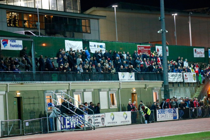 GCFC v Woking FC Crowd