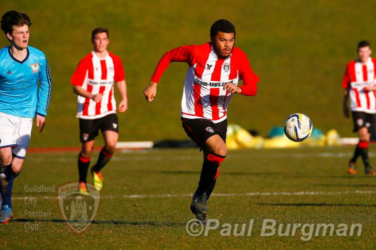 07/03/2015 Guildford City V Ashford Town. City's Dan STEWART
